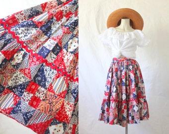 cotton bandana skirt / 1950's