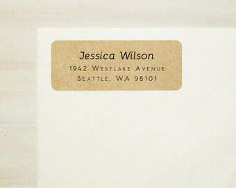 Return Address Labels - Design #13, Simple Address Labels, Kraft Labels, Custom Printed Labels, Personalized Labels, Wedding Address