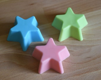 1 Large Star Soap, Glycerin Soap, Soap, Soap Bar, Gift Under Five Dollars, Gift for kids, Star, Bath and Body, Guest Soap