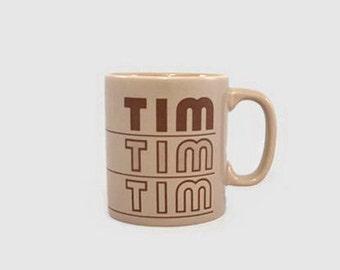 Vintage Mug 'Tim' Name Kiln Craft England