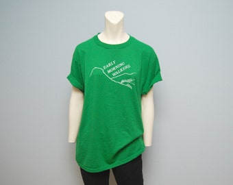 "Vintage 1970s/1980s Green ""Early Morning Walkers"" T-Shirt - Sponsored by Capital Holding"