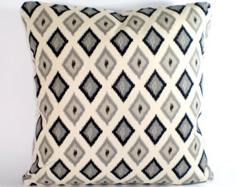 Black Cream Taupe Pillow Cover Decorative Throw Pillows Cushion Covers Black Taupe Cream Carnival Throw Pillows Bed Couch Sofa ALL SIZES