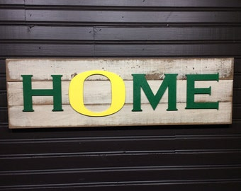 University of Oregon Ducks HOME plaque, sign