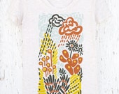 Womens Silk Screen Graphic Tee - Moss or Maybe Lichen