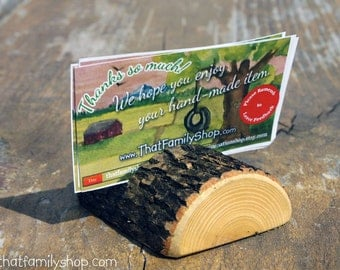 Half-Log Card Holders for Rustic Wedding, Party Place Setting, Reserved Seating Table Number Decor