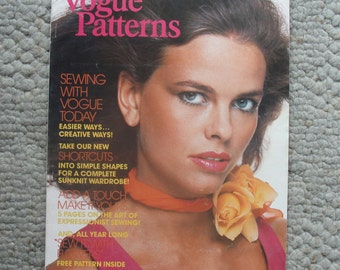Vogue Patterns Magazine  May/June 1976  80 Pages of Fashion Photography, Illustrations, Ads, and Articles