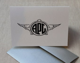 Monogram Note Card - Set of 50