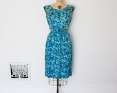 ON SALE - Vintage 50s Dress - 1950s Floral Dress - The Raquel