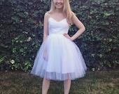 Short Wedding Dress White Tulle Custom made Dress