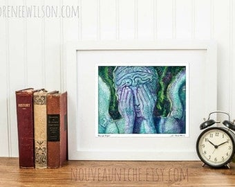 Weeping Angel Signed Metallic Art Print
