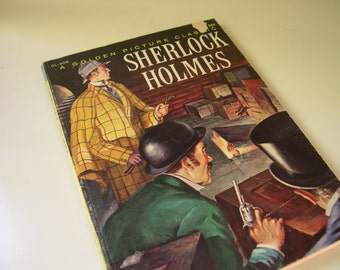 Vintage Sherlock Holmes Golden Picture Classic Book