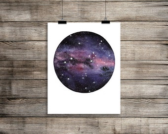 The Milky Way Galaxy featuring The Southern Cross Constellation Instant Download, Square or Rectangle format, Space Art,  Galaxy Painting,