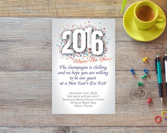 New Years Eve 2016 invitation