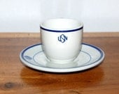 US Navy Warrant Officer ~ USN ~ Demitasse Cup and Saucer ~ Espresso Cup ~ Tepco ~ WW2, Korea and Vietnam