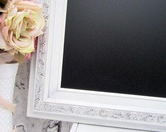 "FRAMED WEDDING CHALKBOARDS For Sale 30""x26"" Framed Chalk board Shabby Chic Kitchen Baroque Framed Blackboard Home Office Organizer"