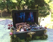 Layaway Available Dollhouse Miniature Fairy Spell Magical Chest Trunk