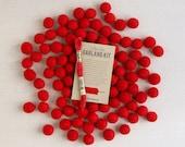 Felt Pom-Poms // Red (with optional garland kit) // Felt Balls by Benzie