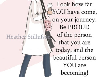 Wall Art for Women - Be Proud of the Person That You Are Today- Wall Art Print -  Digital Art Print -  Wall Art -- Print