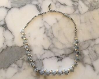 Silver Tone Retro Necklace