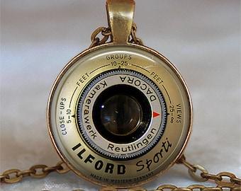 Germany Camera Lens necklace, Camera pendant, Camera lens pendant, photographer necklace, photographer gift key chain