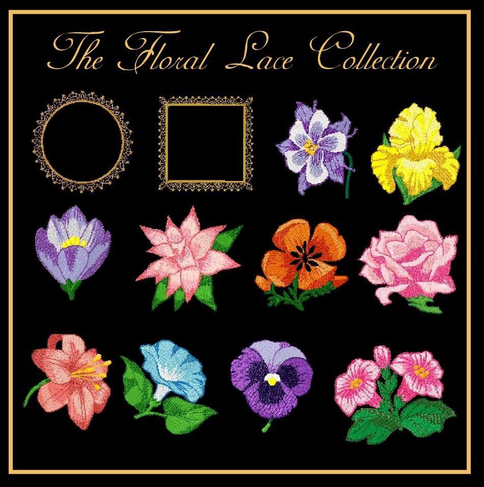 Floral lace machine embroidery designs pesjefhus etc