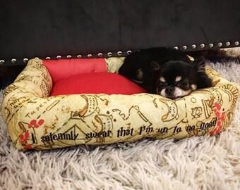 Marauder's Map Donut Pet Beds
