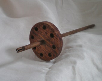 Black Mesquite and Walnut Split Notch Spindle High Whorl 22g,