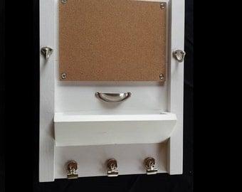 Corkboard, Entryway key hooks, mail organizer