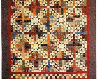 Quilt Pattern, Scrapbook, Scrappy Quilt, Scrap Fabric Quilt, Stash Buster, Patchwork Quilt, C McCourt Quilt Designs, PATTERN ONLY