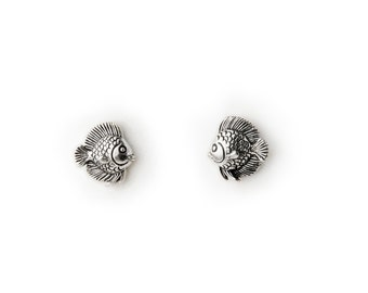 Tropical Fish Sterling Silver Post Earrings