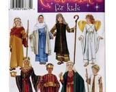 Simplicity 4797, Kids Nativity Costume Pattern, Church Christmas Pageant Costumes, Angel Costume, Mary Costume Pattern, Joseph Costume