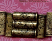 NEW 2 Large Etched Brass Bullet Shell Casings - 38 Specials, Great Steampunk Bead Caps - 38SP-EB