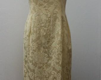 Weekend Sale 34% off Vintage 1980s Brocade Wedding dress by Jessica McClintock Bridal, Size M/L, #29868