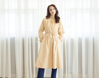 Vintage 1970s Trench Coat - 70s Spring Coat - Grain of Sand Coat