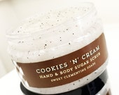 Sugar Scrub, Body Scrub, Body Polish, Hand Scrub, Foot Scrub, Cookies N Cream Sugar Scrub, Cookie Sugar Scrub