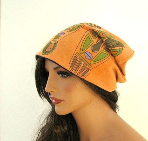FLOPPY HAT - Orange Hat - Baggy Beanie - Slouch Hat - Beanie Hat - Slouchy Beanie - Beanie Cap - Oversized Hat - Mens Beanie - Cool Beanie