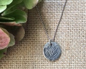 Lotus Charm Necklace,Sterling Silver Charm necklace,Nature Inspired Charm Necklace,Yoga,Hope,Renewal,Harmony,Balance Healing,Mind,Body,Soul
