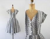 1960s Silent Wheatfield eyelet summer dress / 60s cotton beauty