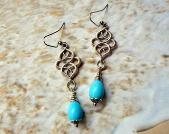 Light Blue Teardrop Earrings (2500)