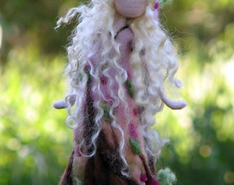 Waldorf inspired Needle felted Rose doll Art doll