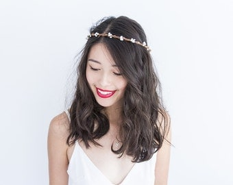 ivory white berry circlet / bridal wedding headpiece flower crown nature woodland rustic dainty whimsical romantic floral headpiece