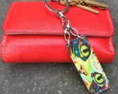 Stainless Keychain by FortuneKeeper- Ragamuffin- Opens to hold fortunes, words, photos, goals...inspires