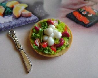 Dollshouse Food , cheese with salad platter