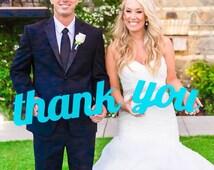 Thank You Wedding Sign for Photography - Wedding Thank You Sign for Rustic Weddings - Thank You Card Photo Prop (Item - TYU200)
