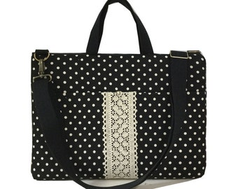 """SALE-15"""" Macbook or Laptop bag with front pocket and detachable shoulder strap -Ready to ship"""