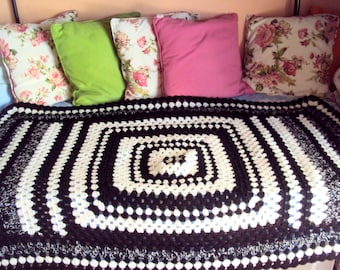 CLEARANCE SALE! Granny Square Blanket Crochet Blanket Afghan Blanket Sofa Throw Lap Cover Baby Blanket  Home Decor