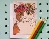 Cat Postcard print