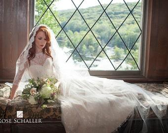 Wedding Veil - Juliet Cap Lace Veil