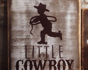 Rustic cowboy sign, cowboy nursery decor, cowboy baby bedding,  western nursery, cowboy baby shower