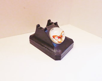 Embellished 1930s Desk Telephone Base with Butterfly